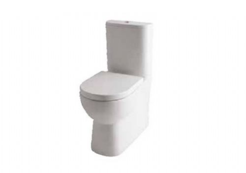 Eastbrook Farringdon Raised Height, Close Coupled Back To Wall Toilet & Soft Close Seat